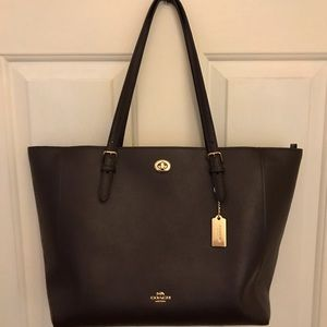 Coach Turnlock Laptop Tote, like new condition